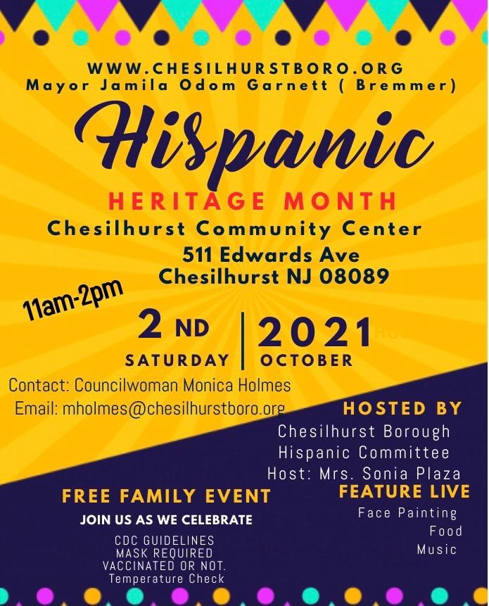 Hispanic Heritage Month | Chesilhurst Borough, NJ